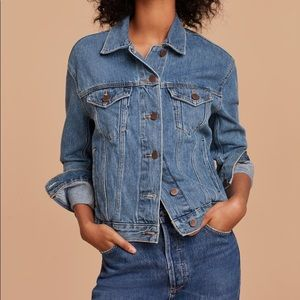 Aritzia Wilfred Free Denim Jacket Blue